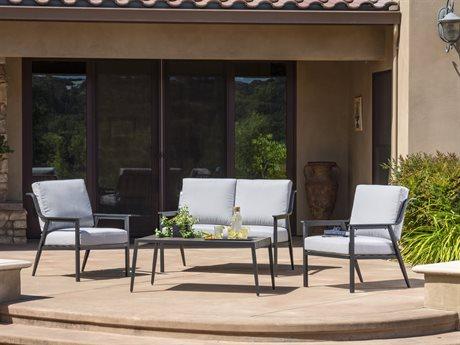 Veranda Classics LeMoore Deep Seating Cast Aluminum Lounge Set PatioLiving