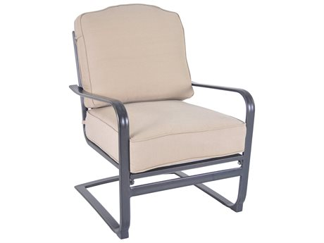 Veranda Classics Harmony Radiant Bronze Cast Aluminum Spring Club Chair - Price Includes 2 Chairs