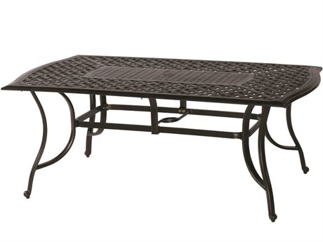 Veranda Classics Harmony Radiant Bronze Cast Aluminum 72''W x 42''D Rectangular Dining Table