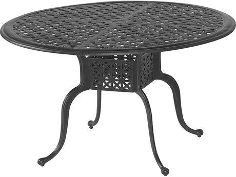 Veranda Classics Harmony Radiant Bronze Cast Aluminum 48'' Round Dining Table