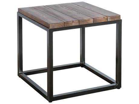Veranda Classics Chesapeake Walnut and Midnight Gold TerraFab 22'' Square Side Table