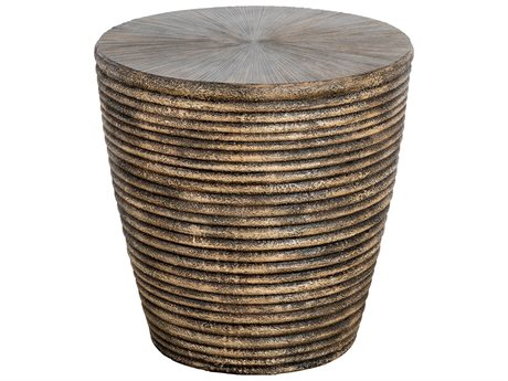 Veranda Classics Milan Earth TerraFab 22'' Round Side Table