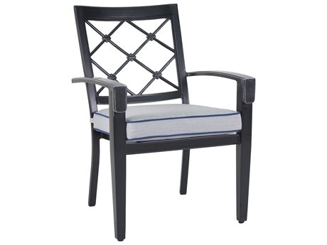 Veranda Classics Bella Glossy Black Cast Aluminum Dining Chair - Price Includes 4 Chairs