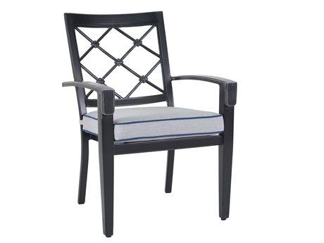 Veranda Classics Bella Cast Aluminum Glossy Black Dining Arm Chair - Price Includes 4 Packs PatioLiving