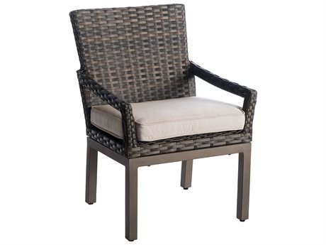 Veranda Classics Metropolitan Smoked Bronze Wicker Dining Chair - Price Includes 2 Chairs