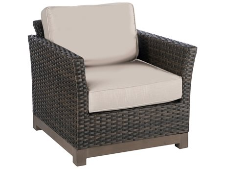 Veranda Classics Metropolitan Smoked Bronze Wicker Lounge Chair