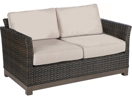 Veranda Classics Metropolitan Smoked Bronze Wicker Loveseat - Price Includes 2 Loveseats