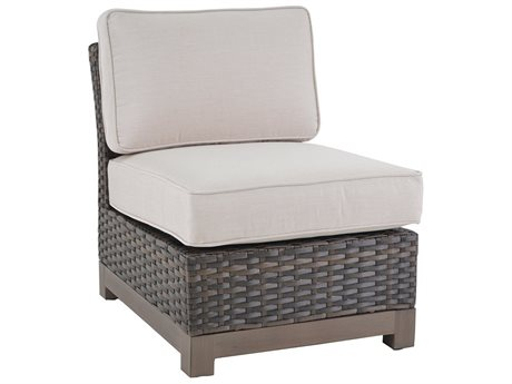 Veranda Classics Metropolitan Radiant Bronze Wicker Armless Lounge Chair