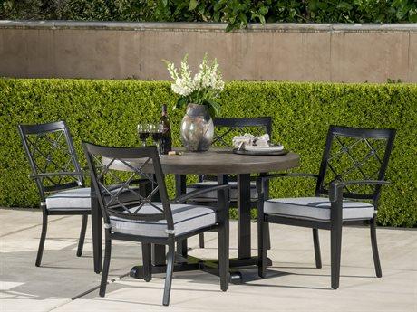 Veranda Classics Bella Glossy Black Cast Aluminum Dining Set