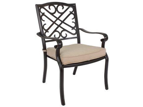 Veranda Classics Harmony Cast Aluminum  Radiant Bronze Dining Arm Chair - Price Includes 4 Packs PatioLiving