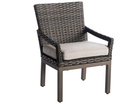 Veranda Classics Metropolitan Wicker Smoked Bronze Dining Arm Chair - Price Includes 2 Packs PatioLiving