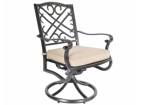 Veranda Classics Harmony Cast Aluminum Radiant Bronze Swivel Dining Arm Chair - Price Includes 2 Packs PatioLiving