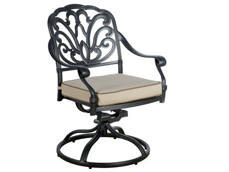 Veranda Classics San Marino Cast Aluminum  Radiant Bronze Swivel Rocker Dining Arm Chair - Price Includes 2 Packs PatioLiving