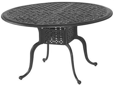 Veranda Classics San Marino Cast Aluminum Radiant Bronze 48''Wide Round Dining Table