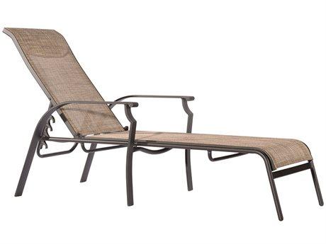 Veranda Classics Peninsula Sling Aluminum Java Chaise Lounge - Price Includes 2 Packs
