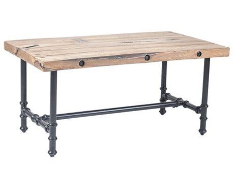 Veranda Classics Monterey Aluminum Black Walnut 42''W x 24''D Rectangular TerraFab Top Coffee Table PatioLiving