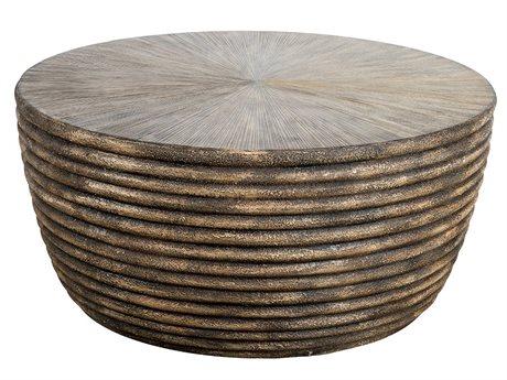 Veranda Classics Milan Resin 42''Wide Round TerraFab Top Coffee Table PatioLiving
