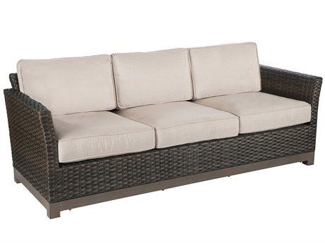 Veranda Classics Metropolitan Wicker  Smoked Bronze Sofa PatioLiving