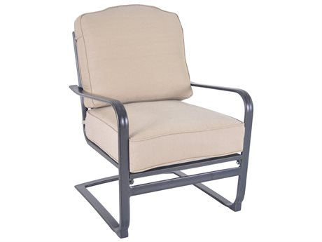 Veranda Classics Harmony Cast Aluminum Radiant Bronze  C-Spring Lounge Chair - Price Includes 2 Chairs