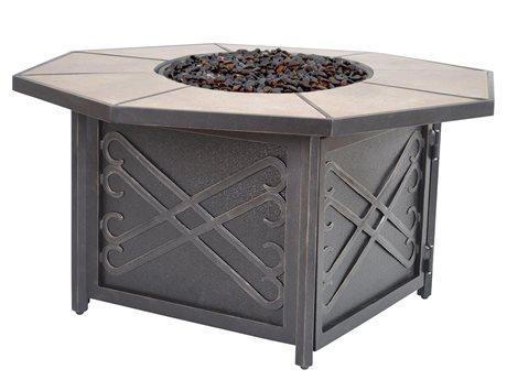 Veranda Classics Harmony Cast Aluminum Radiant Bronze 44''Wide Octagon Fire Pit Table PatioLiving