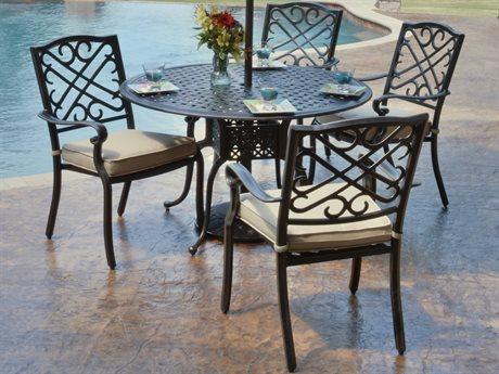 Veranda Classics Harmony Radiant Bronze Cast Aluminum Dining Set