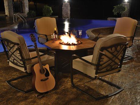 Veranda Classics Harmony Radiant Bronze Cast Aluminum Fire Pit Set