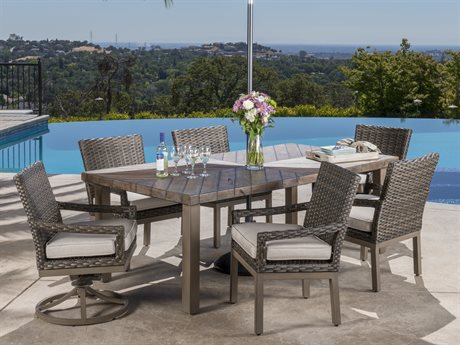Veranda Classics Metropolitan Smoked Bronze Wicker Dining Set