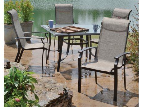 Veranda Classics Peninsula Java Aluminum Dining Set