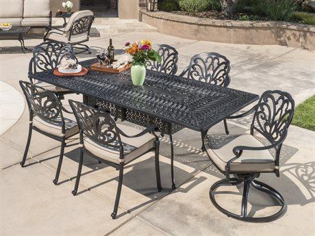 Veranda Classics San Marino Radiant Bronze Cast Aluminum Dining Set