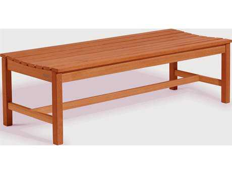 Vifah Eucalyptus Wood 59 x 18 Backless Garden Bench
