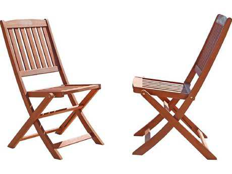 Vifah Eucalyptus Wood Folding Bistro Chair