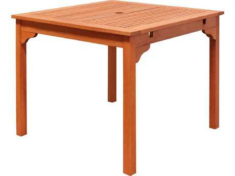 Vifah Eucalyptus Wood SetIbiza 35 Square Stacking Table