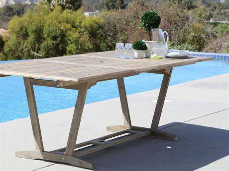Vifah Renaissance Eco-friendly Hand-scraped Hardwood Rectangular Extention Garden Table