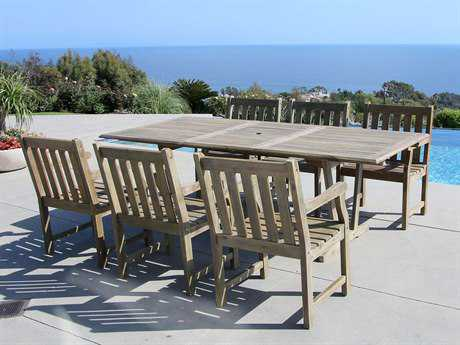 Vifah Renaissance Eco-friendly 7-piece Hand-scraped Hardwood Dining Set with Rectangle Extention Table and Arm Chairs