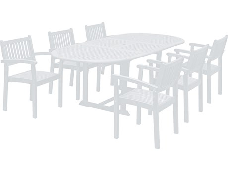 Vifah Bradley Wood 7-piece Dining Set with Extension Table