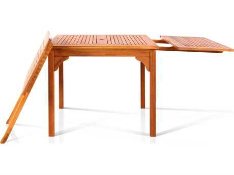 Vifah Eucalyptus Wood 70.9 x 35.4 Rectangular Table