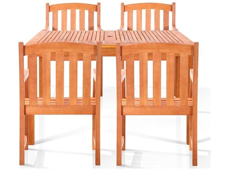 Vifah Eucalyptus Wood Coolidge Four-Seater Dining Set