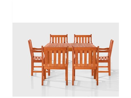 Vifah EucalyptusWood Esalen Six-Seater Dining Set