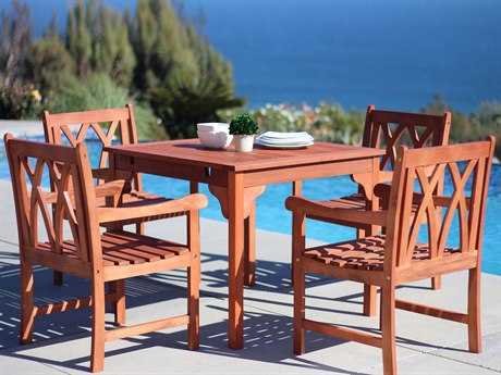 Vifah Malibu Eco-friendly 5-piece Hardwood Dining Set with Rectangle Table and Arm Chairs