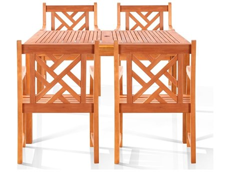 Vifah Eucalyptus Wood Verndale Four-Seater Dining Set