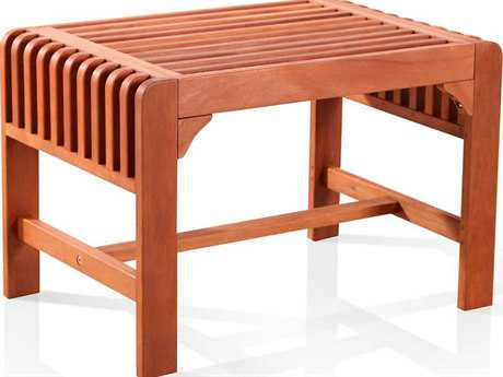 Vifah Eucalyptus Wood 26 x 18 Backless Bench