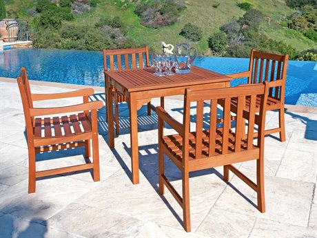 Vifah Eucalyptus Wood Monique Dining Set
