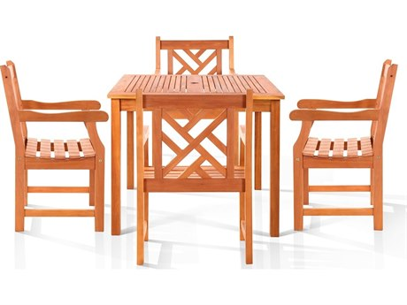 Vifah Eucalyptus Wood Danis Dining Set