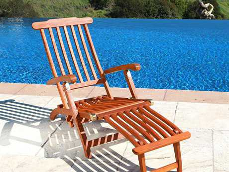 Vifah Eucalyptus Wood Steamer Lounge Chair