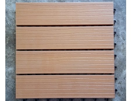 Vifah Eco-friendly 12 x 12 Eco-Friendly Wood-Plastic Composite Interlocking Decking Tile in Cedar