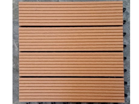 Vifah Eco-friendly 12 x 12 Eco-Friendly Wood-Plastic Composite Interlocking Decking Tile in Light Brown