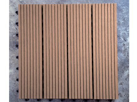 Vifah Eco-friendly 12 x 12 Eco-Friendly Wood-Plastic Composite Interlocking Decking Tile in Dark Brown