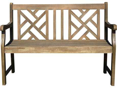 Vifah Renaissance Eco-friendly 4-foot Hand-scraped Hardwood Garden Bench