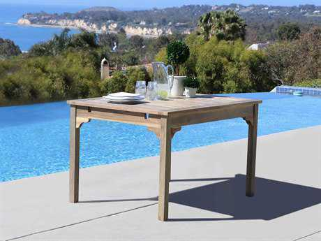 Vifah Renaissance Eco-friendly Hand-scraped Hardwood Rectangular Garden Table