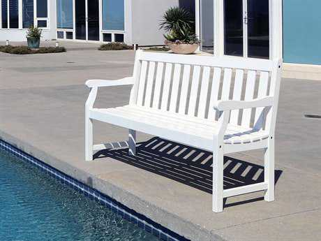 Vifah Bradley Eco-friendly 5-foot White Wood Garden Bench